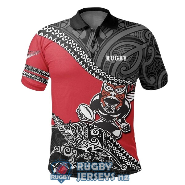 all blacks rugby black red white 2020 2021 polo