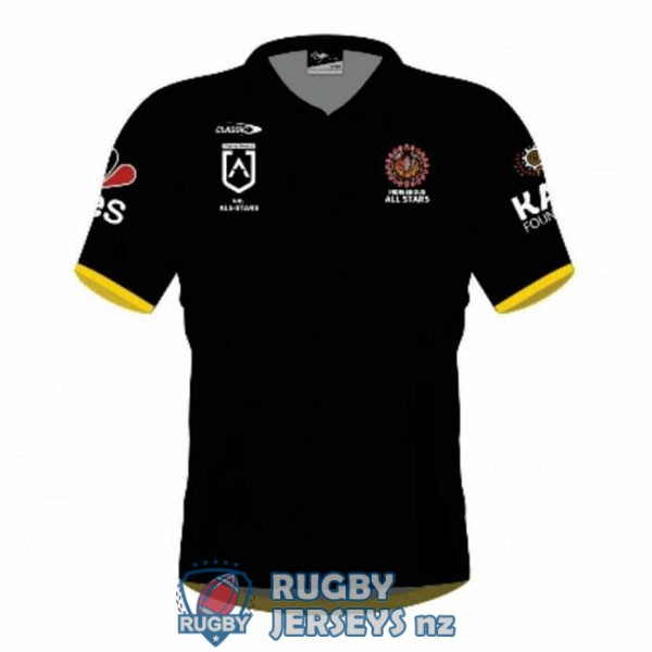 all stars indigenous black 2021 rugby jersey