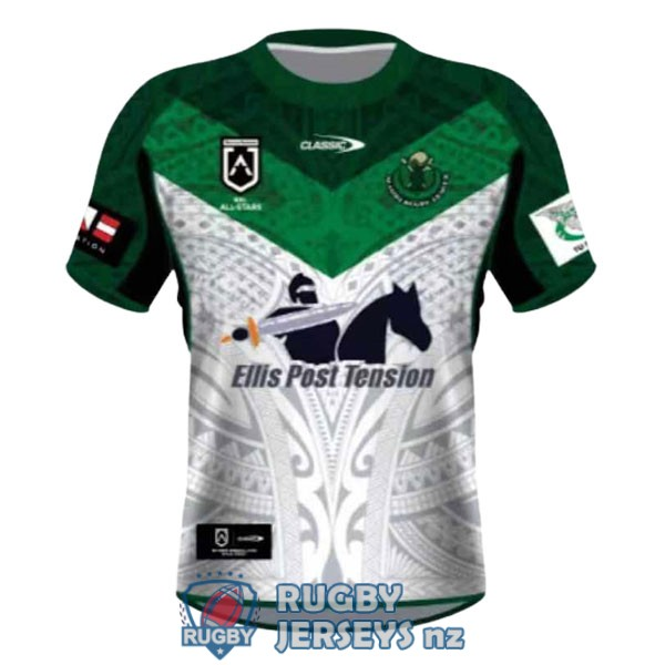 all stars white green 2021 rugby jersey