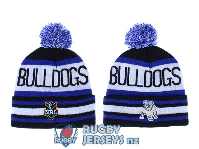 canterbury bankstown bulldogs NRL blue black white beanies