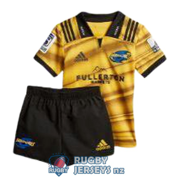 hurricanes yellow black 2018-2019 kid rugby jersey kit