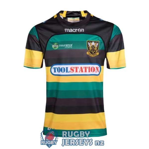 northampton saints home 2017-2018 rugby jersey