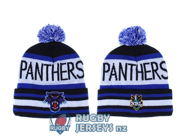 penrith panthers NRL blue black white beanies