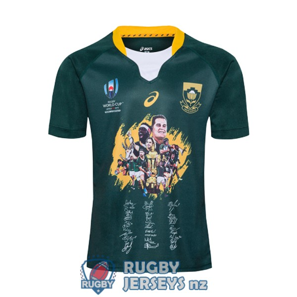 south africa RWC champion green 2019 rugby jersey