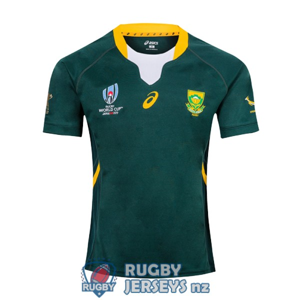 south africa home 2019 rugby RWC jersey