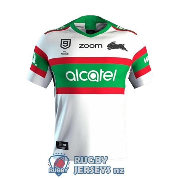 south sydney rabbitohs 9s white 2020 rugby jersey