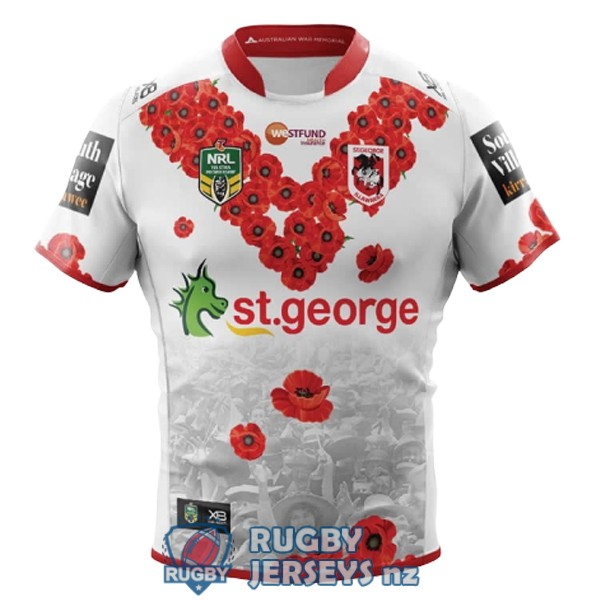 st george illawarra dragons commemorative 2018-2019 rugby jersey