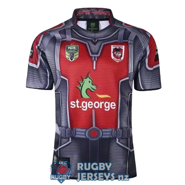 st george illawarra dragons hero 2017-2018 rugby jersey