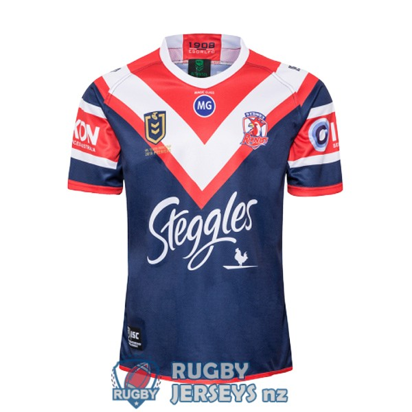 sydney roosters champion red blue rugby jersey