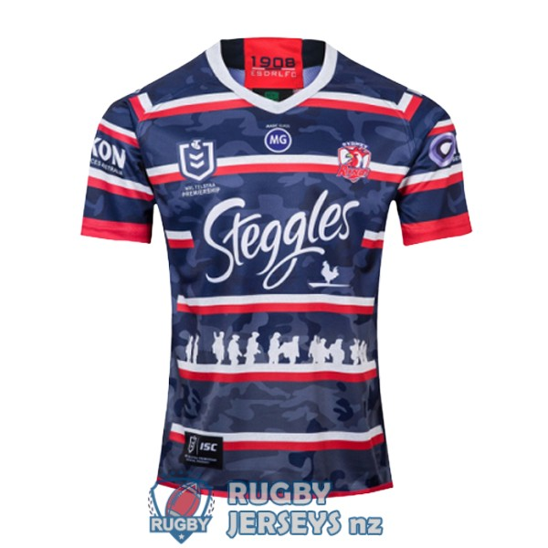 sydney roosters commemorative 2019-2020 rugby jersey