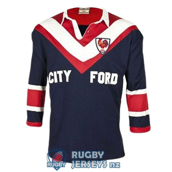 sydney roosters retro long sleeve 1976 rugby jersey