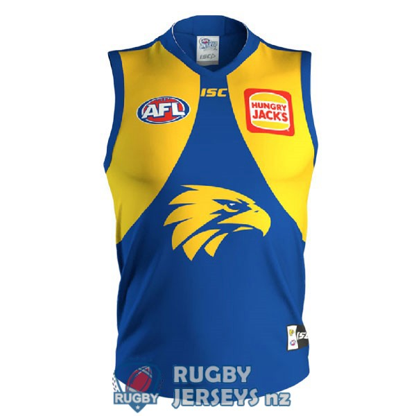 west coast eagles blue yellow 2020 2021 AFL Guernsey jersey