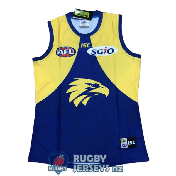 west coast eagles yellow blue 2018 AFL Guernsey jersey