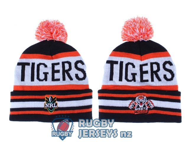 wests tigers NRL orange white black beanies